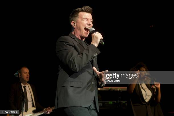 Rick Astley performs on stage at Sala Barts on April 29 2017 in Barcelona Spain