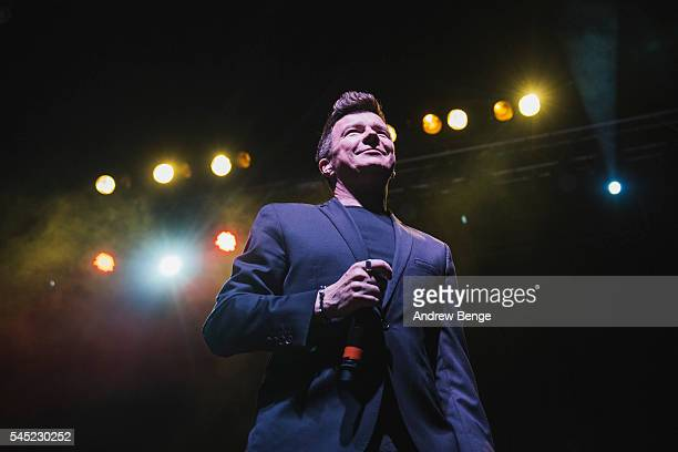 Rick Astley performs on stage at The O2 Ritz Manchester on July 6 2016 in Manchester England