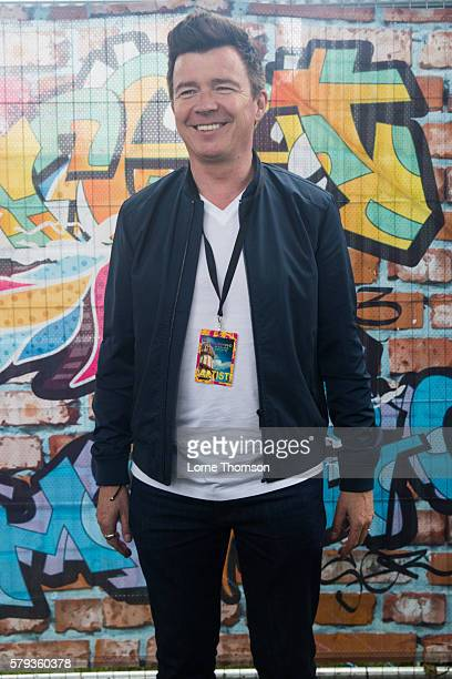 Rick Astley poses for a picture on day two of Rewind Scotland at Scone Palace on July 23 2016 in Perth Scotland