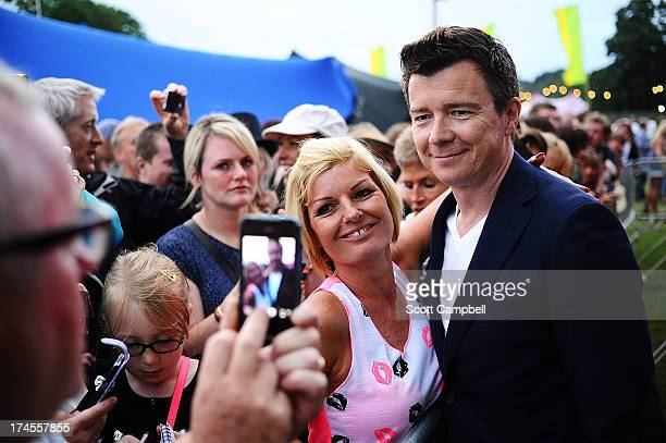 Rick Astley signs autographs for fans on Day 2 of Rewind 80s Festival 2013 at Scone Palace on July 27 2013 in Perth Scotland
