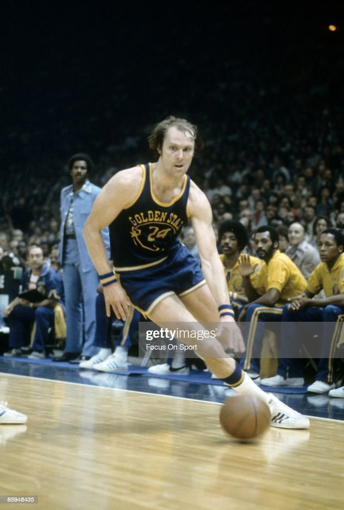bc79bd582cd9 Rick Barry of the Golden State Warriors drives the basketball to the ...