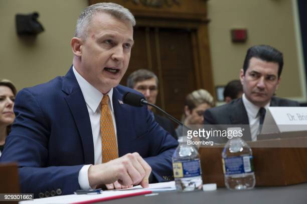 Rick Bright, deputy assistant secretary for preparedness and response for Health and Human Services , speaks during a House Oversight and...
