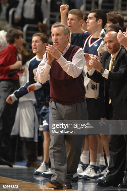 Rick Byrd head coach of the Belmont Bruins in a game during a NCAA Men's Basketball 1st round game against the Duke Blue Devils at Verizon Center on...