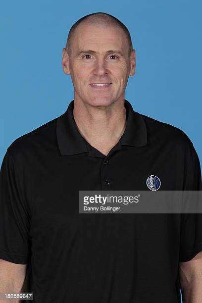 Rick Carlisle head coach of the Dallas Mavericks poses for a headshot at the Dallas Mavericks 20132014 Media Day on September 30 2013 at the American...