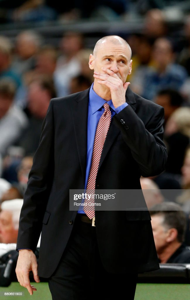 Rick Carlisle head coach of the Dallas Mavericks reacts during game against the San Antonio Spurs at AT&T Center on November 27, 2017 in San Antonio, Texas.