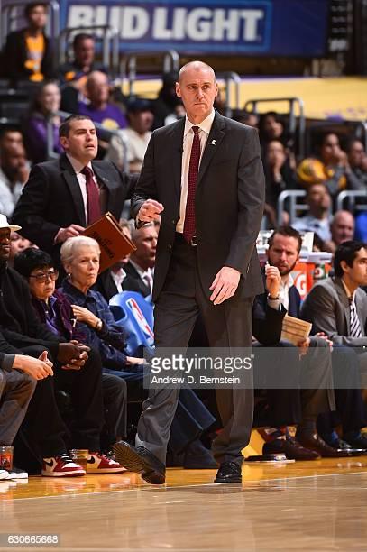 Rick Carlisle of the Dallas Mavericks is seen during the game against the Dallas Mavericks on December 29 2016 at STAPLES Center in Los Angeles...