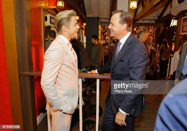 Rick Caruso and Derek Hough at Derek Hough Hosts The Americana at Brand Tree Lighting Presented By BMW on November 16 in Glendale California on...
