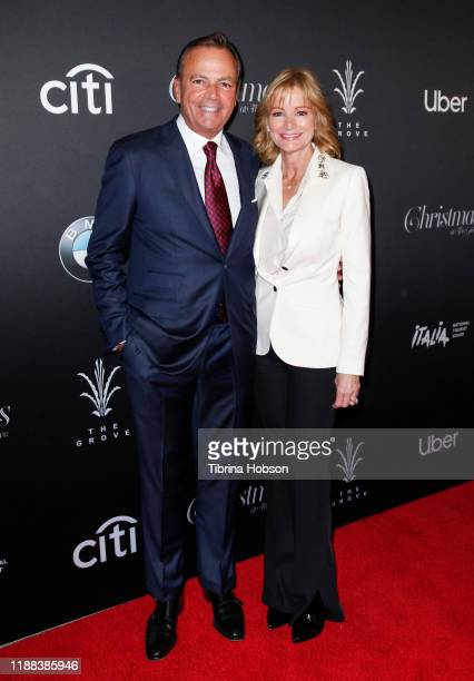 Rick Caruso and Tina Caruso attend Christmas at The Grove A Festive Tree Lighting celebration at The Grove on November 17 2019 in Los Angeles...