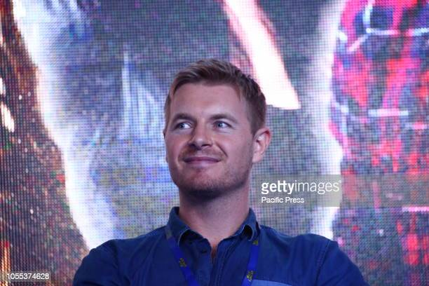 Rick Cosnett attends Warsaw Comic Con opening at PTAK Warsaw Expo Center.