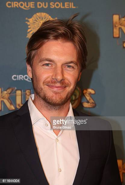 Rick Cosnett poses at The Opening Night of Cirque du Soleil Kurios Cabinet Of Curiosities at Randall's Island Park on September 29 2016 in New York...
