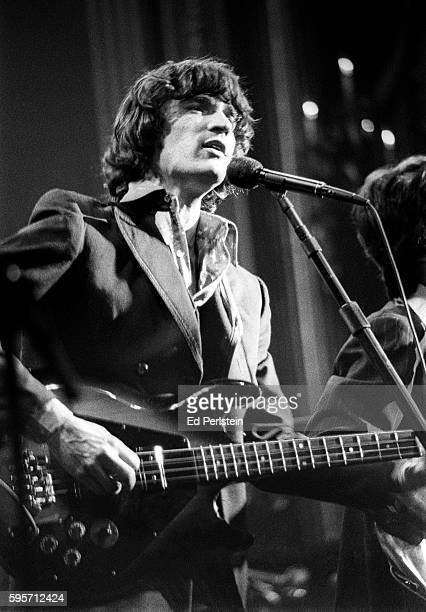 Rick Danko of The Band performs during The Last Waltz at Winterland on November 25 1976 in San Francisco California