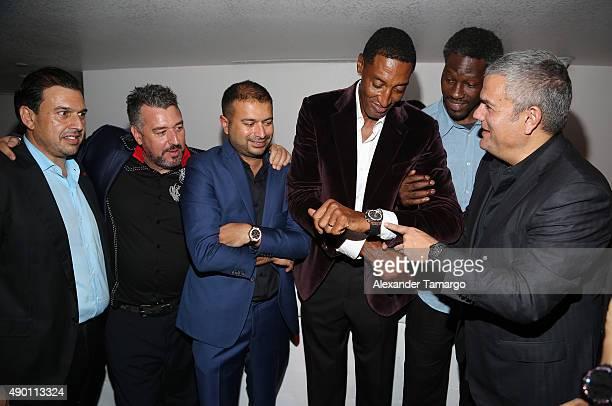 Rick de la Croix, Kamal Hotchandani, Scottie Pippen, Ben Wallace and Ricardo Guadalupe are seen as Haute Living and Hublot Celebrate Scottie Pippen's...