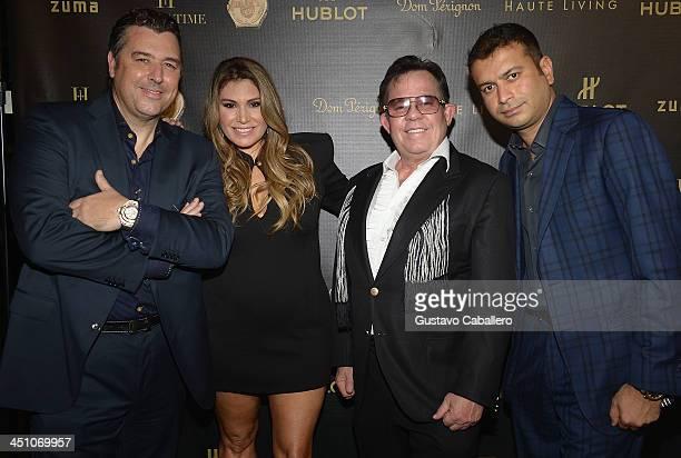 "Rick De La Croix, Loren Ridinger,JR Ridinger and Kamal Hotchandani attends the Haute Living Miami's ""Woman Of Substance, Woman Of The Year"" Awards..."
