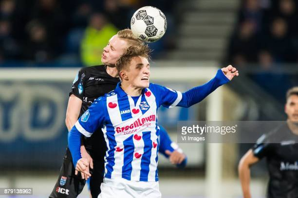 Rick Dekker of PEC Zwolle Martin Odegaard of sc Heerenveen during the Dutch Eredivisie match between sc Heerenveen and PEC Zwolle at Abe Lenstra...