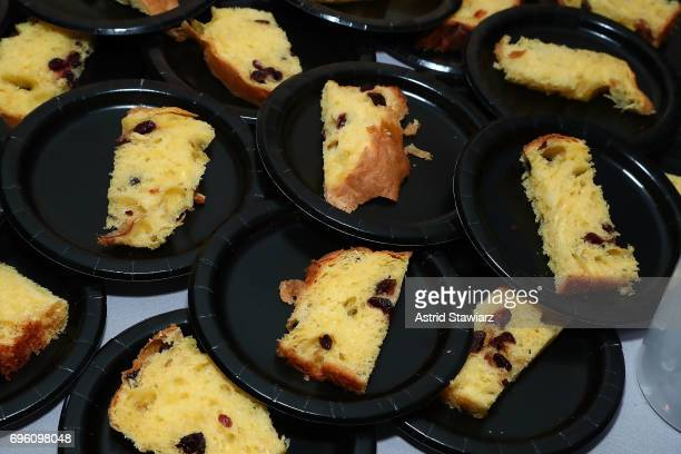 Rick Easton serves his homemade Panettone bread during Housing Works taste of home 2017 on June 14 2017 in New York City