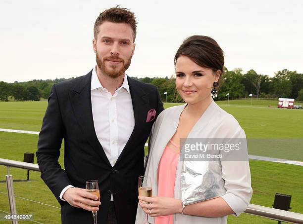 Rick Edwads and Emer Kenny attend day one of the Audi Polo Challenge at Coworth Park Polo Club on May 31, 2014 in Ascot, England.
