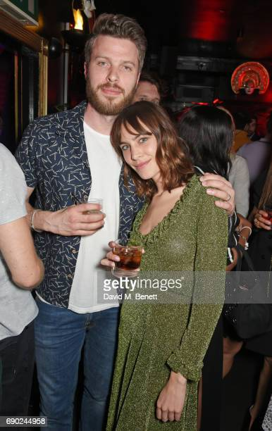 Rick Edwards and Alexa Chung attend the ALEXACHUNG London launch party at The Aviary Bar on May 30 2017 in London England