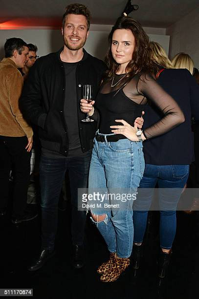 Rick Edwards and Emer Kenny attend a party hosted by Marks and Spencer The British Fashion Council and Alexa Chung to kick off London Fashion Week...