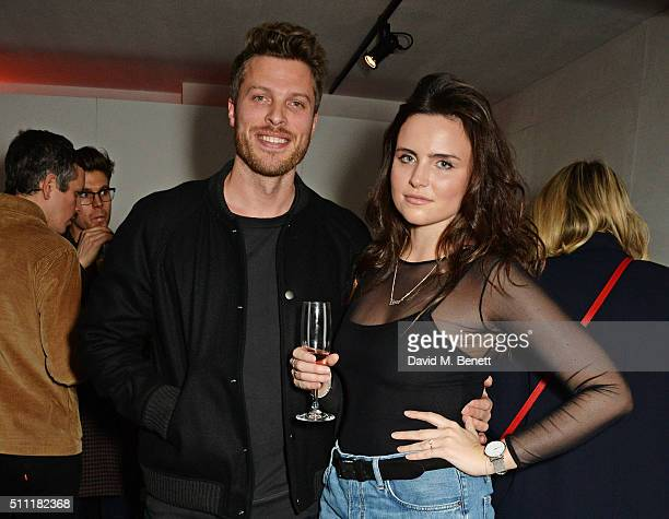 Rick Edwards and Emer Kenny attend a party hosted by Marks and Spencer, The British Fashion Council and Alexa Chung to kick off London Fashion Week...