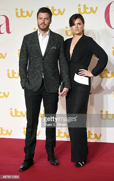 Rick Edwards and Emer Kenny attend the ITV Gala at London Palladium on November 19 2015 in London England