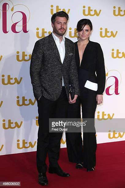 Rick Edwards and Emer Kenny attend the ITV Gala at London Palladium on November 19, 2015 in London, England.