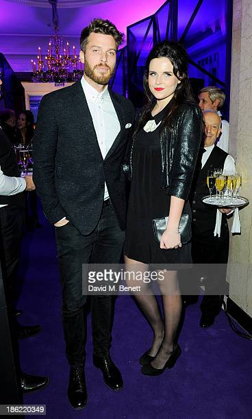 Rick Edwards and Emer Kenny attend the John Frieda party celebrating 25 years of transforming women's hair at Claridges Hotel on October 29, 2013 in...
