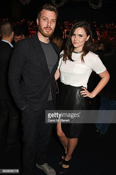 Rick Edwards and Emer Kenny attend the Sunday Times Style Christmas Party at Tramp on December 9 2015 in London England