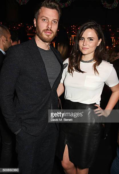 Rick Edwards and Emer Kenny attend the Sunday Times Style Christmas Party at Tramp on December 9, 2015 in London, England.