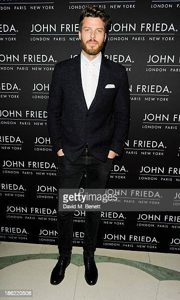 Rick Edwards arrives at the John Frieda party celebrating 25 years of transforming women's hair at Claridges Hotel on October 29 2013 in London...