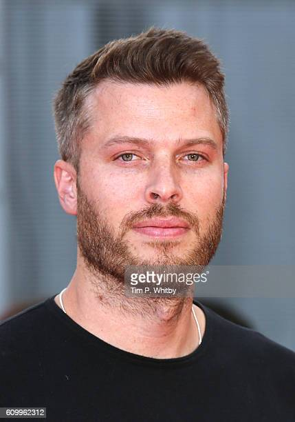 Rick Edwards arrives for the Empire Live 'Swiss Army Mam' 'Imperium' double bill gala screening at Cineworld 02 Arena on September 23 2016 in London...