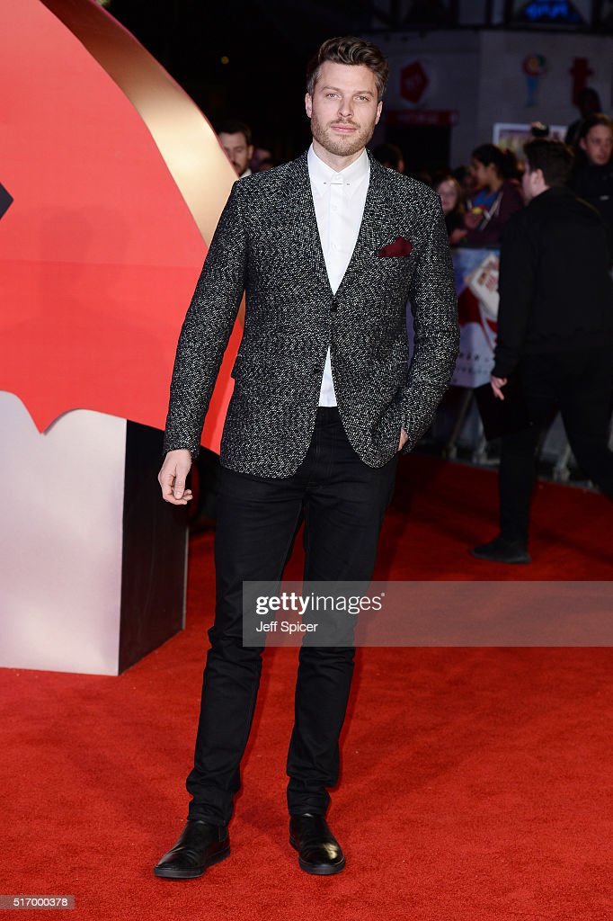 Rick Edwards arrives for the European Premiere of 'Batman V Superman: Dawn Of Justice' at Odeon Leicester Square on March 22, 2016 in London, England.