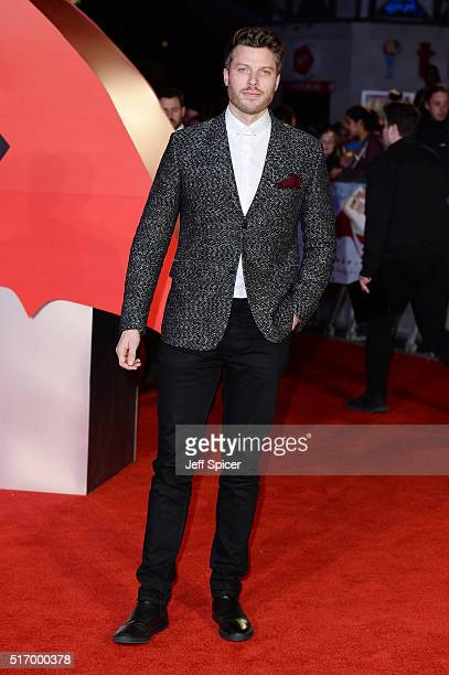 Rick Edwards arrives for the European Premiere of 'Batman V Superman Dawn Of Justice' at Odeon Leicester Square on March 22 2016 in London England