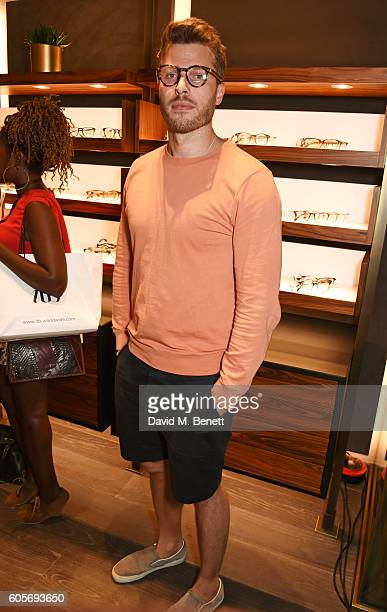 Rick Edwards attends the first Oliver Peoples boutique launch in Europe on September 14 2016 in London England