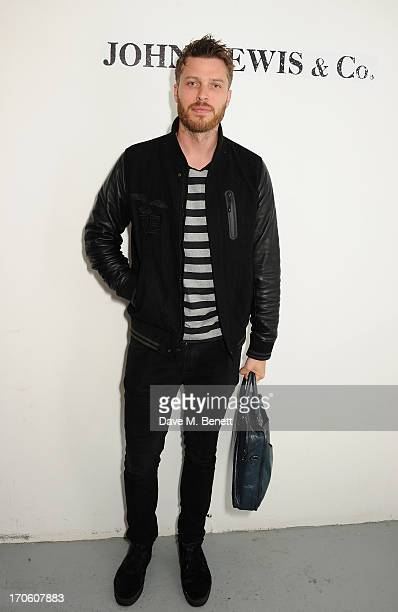 Rick Edwards attends the John Lewis debut presentation at London Collections Men where the British retailer showcased its John Lewis Co Spring/Summer...