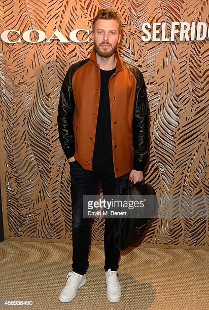 Rick Edwards attends the launch of Coach at Selfridges hosted by Stuart Vevers at Selfridges on September 18 2015 in London England