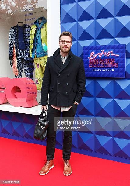 Rick Edwards attends the official opening of British Designers' Collective Menswear curated by GQ at Bicester Village on September 18 2014 in...