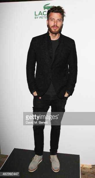 Rick Edwards attends the Peter Saville for Lacoste launch at Shoreditch House on November 28 2013 in London England