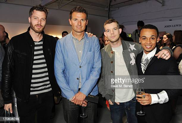 Rick Edwards Peter Ruis Buying and Brand Director of John Lewis Russell Tovey and Aston Merrygold attend the John Lewis debut presentation at London...