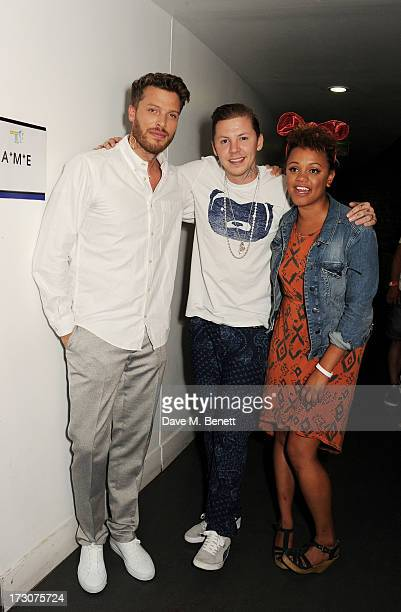Rick Edwards Professor Green and Gemma Cairney attens vInspired Live a youth social change event at The Roundhouse on July 6 2013 in London England