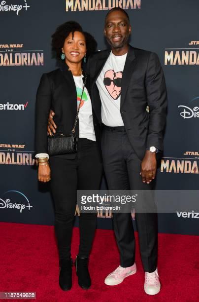 "Rick Famuyiwa Glenita Mosley attend the premiere of Disney+'s ""The Mandalorian"" at El Capitan Theatre on November 13, 2019 in Los Angeles, California."