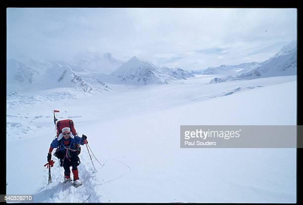 Rick Ford climbs at 11500 on Mount McKinley Denali National Park Alaska
