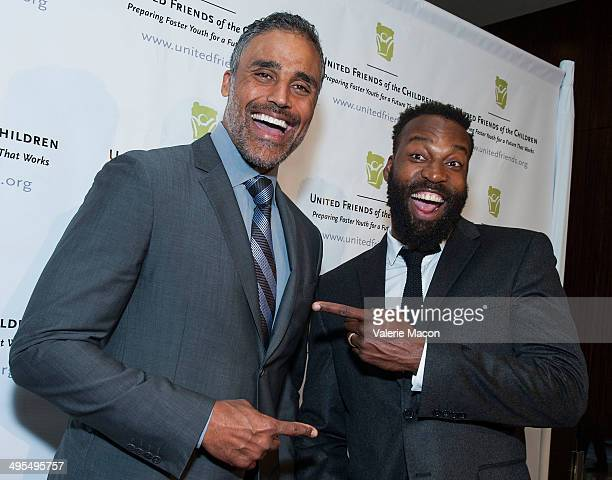 Rick Fox and Baron Davis attend United Friends Of The Children Brass Ring Awards Dinner 2014 at The Beverly Hilton Hotel on June 3 2014 in Beverly...