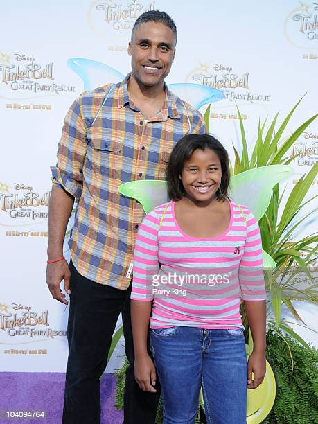 Rick Fox and daughter arrive to the special screening of Tinker Bell And The Great Fairy Rescue held at La Cienega Park on August 28 2010 in Beverly...