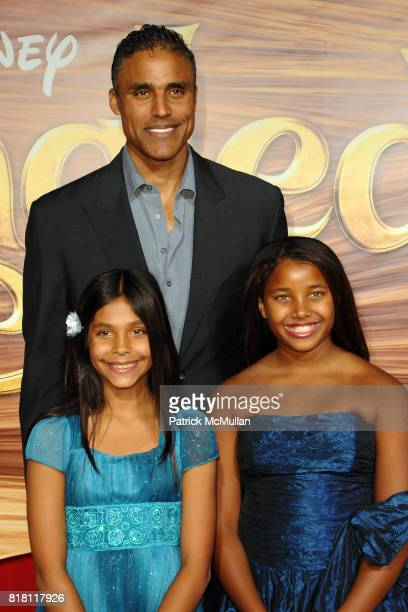 Rick Fox and Daughters attend TANGLED World Premiere at El Capitan Theatre on November 14 2010 in Hollywood California