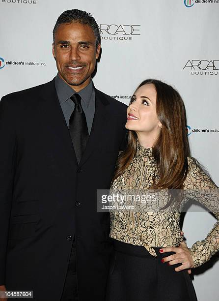 Rick Fox and Eliza Dushku attend the Autumn Party benefiting Children's Institute at The London Hotel on September 29 2010 in West Hollywood...