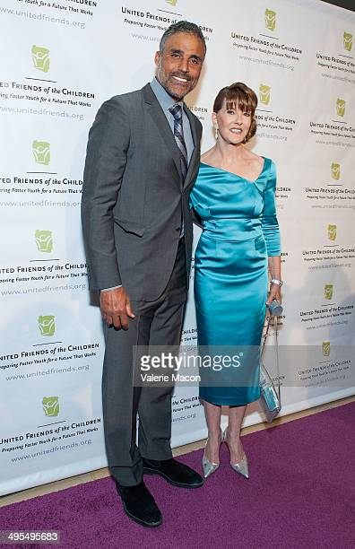 Rick Fox and Jacqueline Caster attend United Friends Of The Children Brass Ring Awards Dinner 2014 at The Beverly Hilton Hotel on June 3 2014 in...