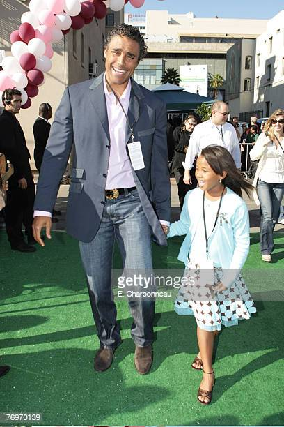 Rick Fox and Sasha Gabriella Fox at the World Premiere of Walt Disney Pictures' The Game Plan at the El Capitan Theatre on September 23 2007 in...