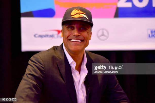 Rick Fox speaks onstage at Lessons Learned in Leading the Fast Break to Esports during SXSW at Austin Convention Center on March 17 2018 in Austin...