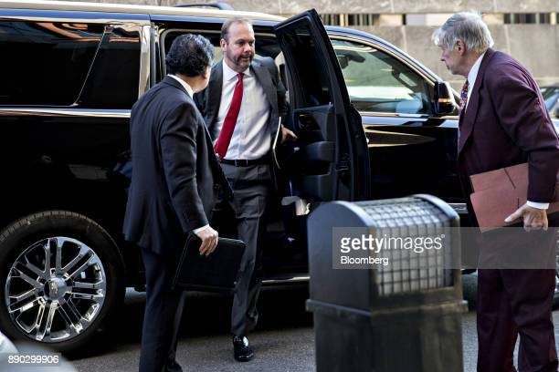 Rick Gates former deputy campaign manager for Donald Trump center gets out his vehicle at the US Courthouse for a status conference in Washington DC...