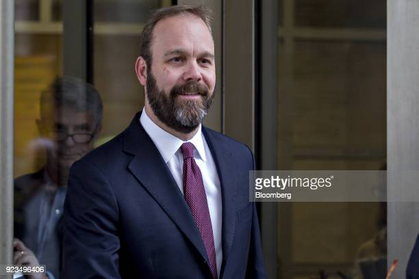 Rick Gates former deputy campaign manager for Donald Trump exits Federal Court in Washington DC US on Friday Feb 23 2018 Special Counsel Robert...